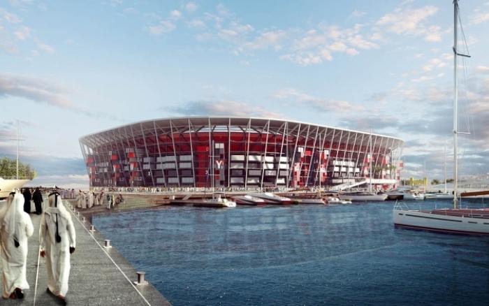 Dit is het Ras Abu Aboud Stadion voor het WK 2022 in Qatar