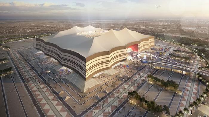 Het dak van het Al Bayt Stadion in Qatar kan in 20 minuten dicht