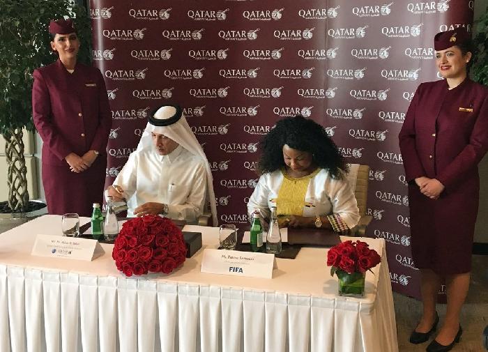 Qatar Airways is de nieuwe sponsor van het WK 2022 en de FIFA